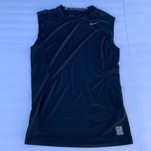 Nike Pro Combat size small Fitted Black Sleeveless